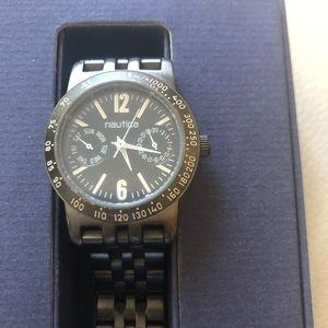 Nautica women's watch black stainless steel